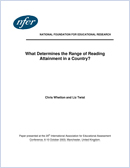 What determines the range of reading attainment in a country?