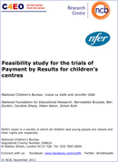 Feasibility study for the trials of Payment by Results for children's centres