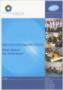 High performing specialist schools: What makes the difference?
