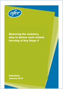 Removing the statutory duty to deliver work related learning at Key Stage 4