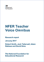 Teacher Voice Omnibus Results May to July 2016 survey
