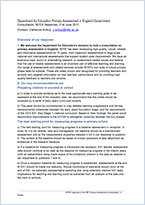 DfE primary assessment in England government consultation
