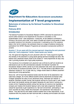 DfE consultation - Implementation of T Level programme