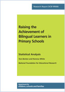 Raising the achievement of bilingual learners in primary schools: Statistical analysis