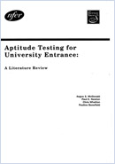 Aptitude testing for university entrance: A literature review