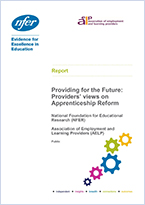 Providing for the future: Providers views on apprenticeship reform