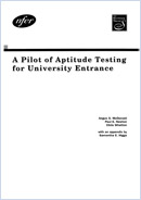 A pilot of aptitude testing for university entrance