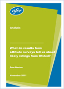 What do results from attitude surveys tell us about likely ratings from Ofsted?