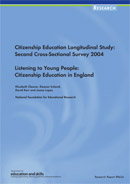 Citizenship Education Longitudinal Study: Second Cross-sectional Survey 2004. Listening to young people: citizenship education in England