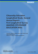 Making citizenship education real: Citizenship education longitudinal study: second annual report. First longitudinal survey