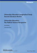 Citizenship Education Longitudinal Study: Second literature review. Citizenship education: the political science perspective