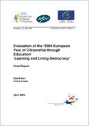 Evaluation of the '2005 European Year of citizenship through Education'