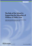 The role of the school in supporting the education of children in public care