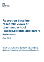 Reception baseline research