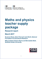 Maths and physics teacher supply package