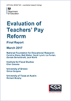Evaluation of teachers pay reform
