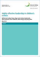 Highly effective leadership in children's centres