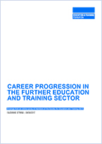 Career progression in further education and training sector