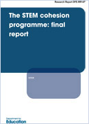 The STEM cohesion programme: Final report