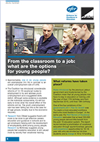 Factsheet: From the classroom to a job