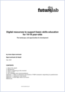 Digital resources to support basic skills education for 14-19 year-olds: The landscape, and opportunities for development