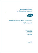 2008/09 Secondary Maths and Science HLTA research