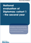 National evaluation of diplomas: Cohort 1 - the second year