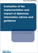 Evaluation of the implementation and impact of diplomas: Information, advice and guidance