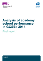 Analysis of academy school performance in GCSEs 2014