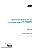 Mentoring and coaching for professionals: A study of the research evidence