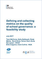 Defining and collecting metrics on quality of school governance