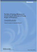 The role of training allowances in incentivising the behaviour of young people and employers