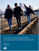 What works in stimulating creativity amongst socially excluded young people