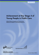 Achievement at key stage 4 of young people in care