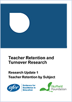 Teacher retention & turnover research - Research update 1