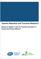 Teacher retention and turnover research - Research update 4: How Do Teachers Compare To Nurses And Police Officers?