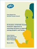 Evaluation of Norfolk County Council's approach to securing services to improve young people's well being