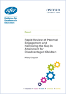 Rapid review of parental engagement and narrowing the gap in attainment for disadvantaged children