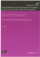 School attendance and the prosecution of parents: Perspectives from education welfare service management