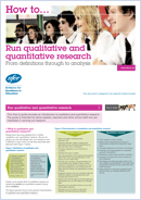 How to... Run qualitative and quantitative research: From definitions through to analysis