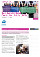 How to… Run randomised controlled trials (RCTs): An introduction