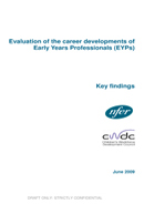 Evaluation of the career developments of Early Years Professionals (EYPs)
