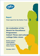 An Evaluation of the Reach for Excellence programme: Cohort 3 and school/college link views