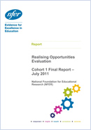 NFER evaluation of Realising Opportunities - Cohort 1