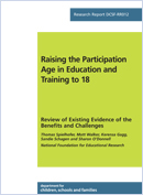 Raising the participation age and training to 18: Review of existing evidence of the benefits and challenges
