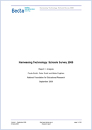 Harnessing Technology: schools survey 2008: Report 1: analysis