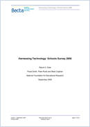 Harnessing Technology: Schools survey 2008. Report 2: data
