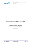 Harnessing Technology: Schools survey 2008. Report 3: executive summary