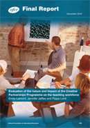 Evaluation of the nature and impact of the Creative Partnerships programme on the teaching workforce