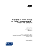 The voice of young people: an engine for improvement? Scoping the evidence